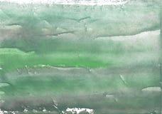 Ejemplo vago oscuro de la acuarela del verde de mar Imágenes de archivo libres de regalías