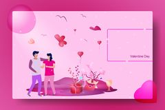 Ejemplo Valentine Day stock de ilustración
