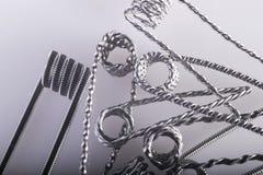 Ejemplo vaping torcido de las bobinas del filamento multi Foto de archivo