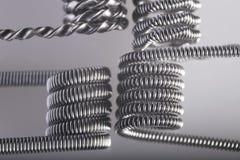 Ejemplo vaping torcido de las bobinas del filamento multi Fotografía de archivo