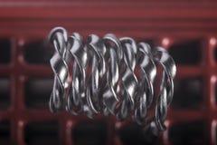 Ejemplo vaping torcido de las bobinas del filamento multi Imagen de archivo
