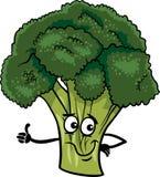 Ejemplo vegetal de la historieta del bróculi divertido Foto de archivo