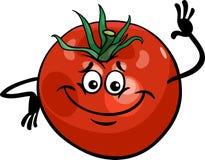 Ejemplo vegetal de la historieta del tomate lindo Imágenes de archivo libres de regalías