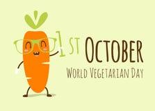 Ejemplo vegetariano del día del mundo Imagenes de archivo