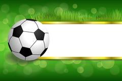 Ejemplo verde abstracto de la bola del deporte del fútbol del fútbol del fondo Fotografía de archivo