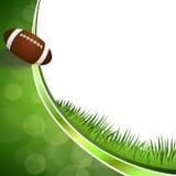 Ejemplo verde abstracto de la bola del fútbol americano del fondo Imagenes de archivo