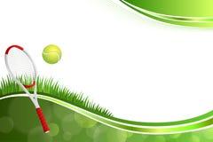 Ejemplo verde abstracto del marco de la bola del amarillo del deporte del tenis del fondo Imágenes de archivo libres de regalías