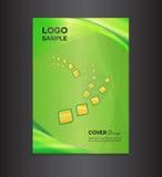 Ejemplo verde del vector del diseño de la cubierta Foto de archivo libre de regalías