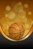 Ejemplo vertical de la cinta del oro del deporte del fondo del baloncesto del marco negro anaranjado abstracto de la bola Fotos de archivo
