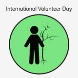 Ejemplo voluntario del día stock de ilustración