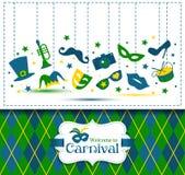 Ejemplo y recepción brillantes del carnaval del vector al carnaval Imagen de archivo