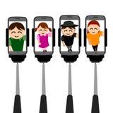 Ejemplos abstractos del selfie stock de ilustración