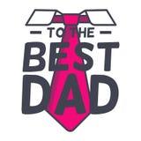 Ejemplos asombrosos del vector del día del padre s Al mejor diseño de la tipografía del papá stock de ilustración
