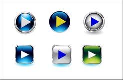 Ejemplos de cristal del vector del botón ilustración del vector