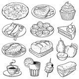 Ejemplos de la comida del vector ilustración del vector