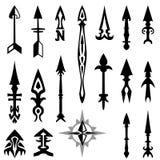 Ejemplos de la flecha Imagen de archivo libre de regalías