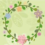 Ejemplos de la guirnalda del verano de la primavera ilustración del vector
