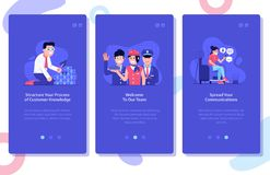 Ejemplos de la publicidad online y del márketing UI libre illustration