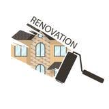 Ejemplos de la renovación del concepto remodelando, diseño plano ho stock de ilustración