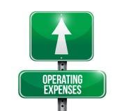 Ejemplos de la señal de tráfico de los gastos de explotación Imagen de archivo libre de regalías