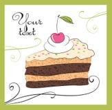 Ejemplos de la torta stock de ilustración