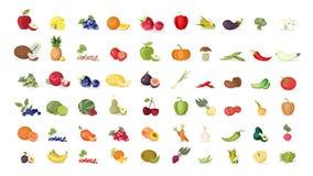 Ejemplos de las frutas fijados libre illustration