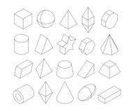 Ejemplos de Monoline Capítulos de diversas formas de la geometría stock de ilustración
