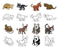Ejemplos del animal de la historieta Imagenes de archivo