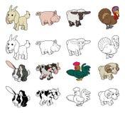 Ejemplos del animal del campo de la historieta stock de ilustración
