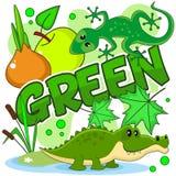 Ejemplos del color verde Imagen de archivo libre de regalías