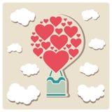 Ejemplos del día de tarjetas del día de San Valentín stock de ilustración