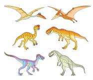 Ejemplos del dinosaurio Foto de archivo libre de regalías