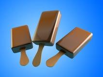 Ejemplos del helado de chocolate 3d Foto de archivo