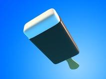 Ejemplos del helado de chocolate 3d Fotografía de archivo libre de regalías