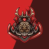 Ejemplos del samurai rojo stock de ilustración
