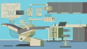 Ejemplos del vector de Office del dentista Foto de archivo libre de regalías