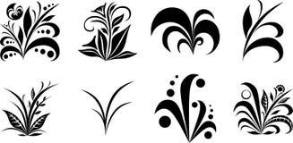 Ejemplos del vector del arsenal de la hierba Fotografía de archivo