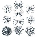 Ejemplos dibujados mano hermosa de la Navidad del vector fijados stock de ilustración