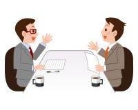 Ejemplos a la negociación Imagenes de archivo