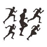 Ejemplos masculinos del corredor del vector libre libre illustration