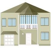 Ejemplos modernos del vector del edificio de la fachada de la arquitectura Imágenes de archivo libres de regalías