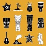 Ejemplos polinesios del icono Fotos de archivo