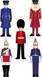 Ejemplos reales del vector del guardia del Queens Imagen de archivo libre de regalías