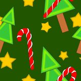 Ejemplos a todo color inconsútiles del fondo de la Navidad Imagenes de archivo