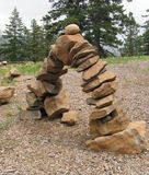 Ejercicio de equilibrio Foto de archivo libre de regalías