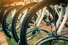 Ejercicio de giro de la bicicleta Fotos de archivo libres de regalías