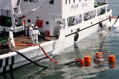 Ejercicio de la contingencia del derramamiento de petróleo Imagen de archivo