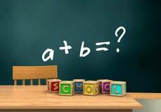 ejercicio de la matemáticas 3d Foto de archivo