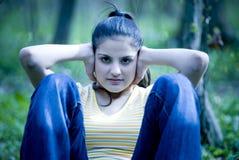 Ejercicio de la muchacha Imagen de archivo