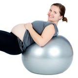 Ejercicio de la mujer embarazada Foto de archivo